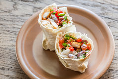 Chicken burrito royalty free stock photography