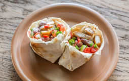 Chicken burrito Stock Image