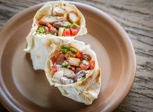Chicken burrito Stock Photo