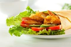Chicken Burrito Stock Photos