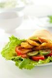 Chicken Burrito Royalty Free Stock Photos