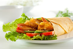 Chicken Burrito Royalty Free Stock Image