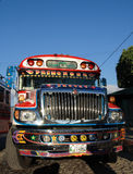 Chicken bus. A typical central american chicken bus, picture taken in Antigua Guatemala Royalty Free Stock Photos