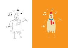Chicken businessman dancing Royalty Free Stock Photo