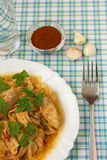 Chicken with cabbage_5. Delicious cooked chicken with cabbage Royalty Free Stock Photos