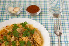 Chicken with cabbage_6. Delicious cooked chicken with cabbage Stock Images