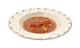 Chicken cacciatore in bowl Royalty Free Stock Images