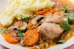 Chicken cacciatore closeup Stock Photography