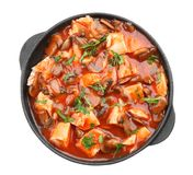 Chicken cacciatore in frying pan isolated Stock Photography