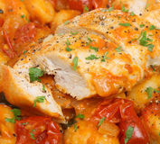 Chicken Cacciatore with Gnocchi Royalty Free Stock Images