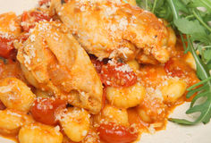 Chicken Cacciatore with Gnocci Royalty Free Stock Photography