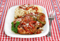 Chicken Cacciatore with pasta Royalty Free Stock Photos