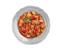 Chicken cacciatore in plate  Stock Photos