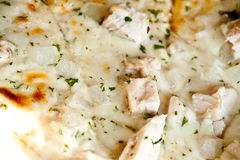 Chicken Caesar Pizza Royalty Free Stock Photos