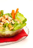 Chicken Caesar Salad. With grilled chicken isolated on white Stock Image