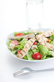 Chicken Caesar salad. With a fork Stock Images