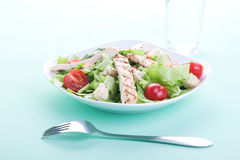Chicken Caesar salad. On a table Royalty Free Stock Images