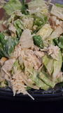 Chicken Caesar Salad Art Stock Photo