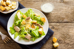 Chicken caesar salad Stock Photography