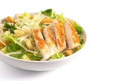 Free Chicken Caesar Salad Isolated On A White Background Stock Image - 148565311