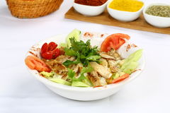 Chicken Caesar Salad. On the white plate Stock Photo