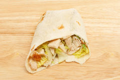 Chicken Caesar salad wrap Stock Images