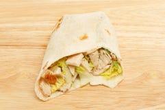 Chicken Caesar salad wrap Stock Images