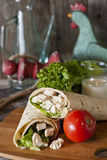 Chicken Caesar Wrap Royalty Free Stock Images