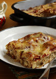 Chicken cannelloni. Chicken and cheese cannelloni, for a quick and delicious family dinner Stock Image