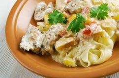 Chicken carbonara Stock Images