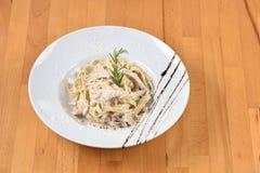 Chicken Carbonara Pasta Royalty Free Stock Image