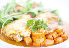 Chicken and carrot meal Royalty Free Stock Photo