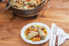 Chicken with carrots stew Stock Images