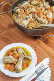 Chicken with carrots stew Stock Image