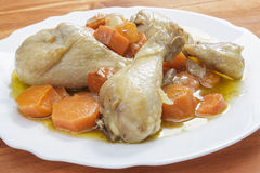 Chicken with carrots stew Stock Photos