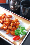 Chicken Cartilage. Japanese style chicken cartilage deep fried Royalty Free Stock Photo