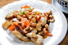 Chicken cashew Royalty Free Stock Photo