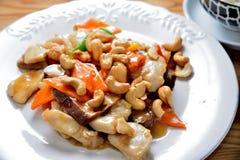 Chicken cashew. Chinese cuisine fried chicken cashew Royalty Free Stock Photo