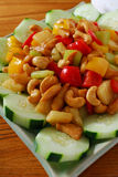 Chicken cashew cucumber Royalty Free Stock Photography