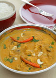 Chicken cashew curry vertical Royalty Free Stock Image