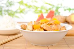 Chicken with cashew and mango Stock Photo