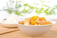 Chicken with cashew and mango Royalty Free Stock Photography