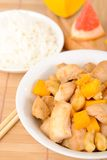 Chicken with cashew and mango Royalty Free Stock Images