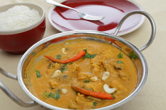 Chicken cashew and mushroom curry Royalty Free Stock Image