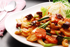 Chicken with cashew nut. Chicken stir fried with cashew nut from Thailand Stock Photo