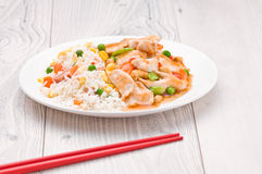Chicken Cashew Rice dish Royalty Free Stock Photography