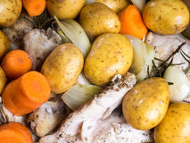 Chicken casserole with carrots and potatoes Stock Photography