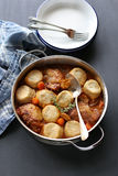 Chicken casserole with dumplings Royalty Free Stock Photos