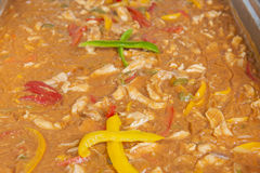 Chicken casserole at a restaurant buffet Stock Photos