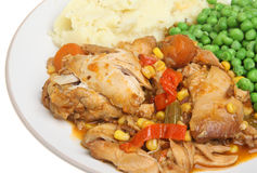 Chicken Casserole Stew Meal Stock Image